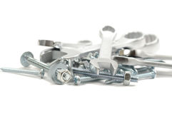 Wrenches and Screws Stock Photo