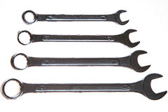 Wrenches set isolated metal repair Stock Photography