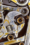 Wrenches and spanners stained with motor oil Royalty Free Stock Photos