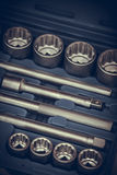 Wrenches tool box Royalty Free Stock Photos