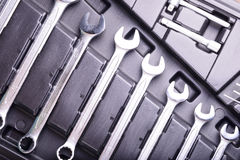 Wrenches in the tool box Royalty Free Stock Image