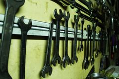 The wrenches. A view of the wrenches Royalty Free Stock Photography