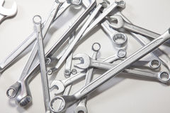 Wrenches on the white background.  Royalty Free Stock Images