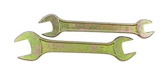 Wrenches on a white. Background Stock Images