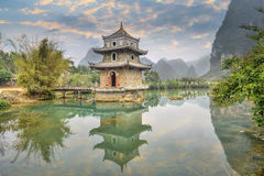 Wrenching  tower in guangxi, China. Stock Photography