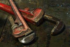 Wrenchs трубы Стоковые Изображения