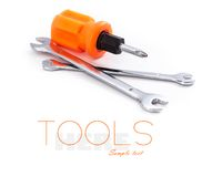 Wrenchs and screwdriver Stock Image