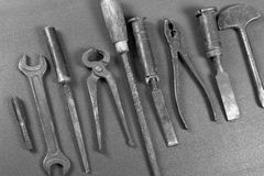 Wrenchs,various tools on background Stock Image