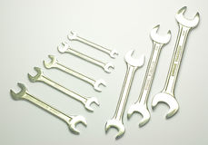 Wrenchs on white background Stock Images