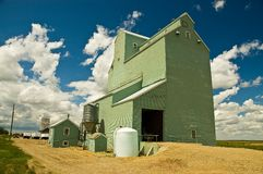Wrentham Grain Elevator 1 Royalty Free Stock Photography