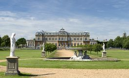 Wrest Park Gardens. Historic Building and gardens Royalty Free Stock Photos