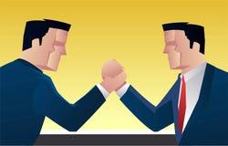 Wrestle руки бизнесменов бесплатная иллюстрация