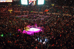 Wrestleling match at Madison square garden. A shot of an wwe event in Madison Sqaure Garden, new York city Stock Photography