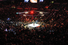 Wrestleling match at Madison square garden. A shot of an wwe event in Madison Sqaure Garden, new York city Royalty Free Stock Image