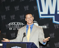 WrestleMania. NEW YORK, NY - MARCH 30: WWE Superstar John Cena attends the WrestleMania XXVII press conference at Hard Rock Cafe New York on March 30, 2011 in stock photos