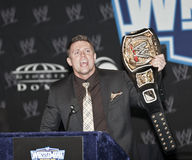 WrestleMania XXVII. NEW YORK, NY - MARCH 30: WWE Superstar The Miz attends the WrestleMania XXVII press conference at Hard Rock Cafe New York on March 30, 2011 royalty free stock photos