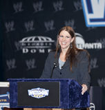 WrestleMania XXVII. NEW YORK, NY - MARCH 30: Executive Vice President Stephanie McMahon attends the WrestleMania XXVII press conference at Hard Rock Cafe New royalty free stock photography