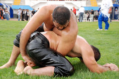 Wrestler competitor. Organized by Sincan City hall and supported by Turkey Wrestlers Federation Sincan 1st wrestlers Stock Photo
