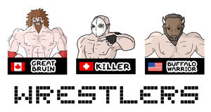 Wrestler draw. Creative design of wrestler draw Stock Image