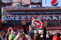 Wrestler Randy Orton poses on turnbuckle Royalty Free Stock Photo