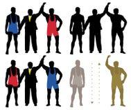 Wrestler winner vector illustration