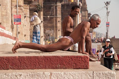 Wrestlers workout in India Stock Image