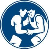 Wrestlers Wrestling Circle Icon Stock Image