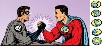 wrestling рукоятки супер иллюстрация штока