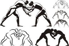 Wrestling ilustração stock