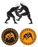 wrestling иллюстрация штока