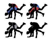 wrestling illustrazione di stock