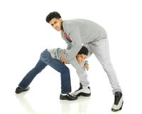 Wrestling Brothers Stock Photography