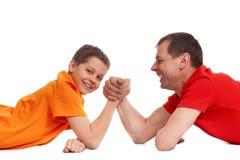 Wrestling de braço Fotografia de Stock