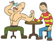 Wrestling de braço Imagens de Stock