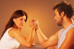Wrestling de braço Foto de Stock Royalty Free