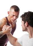 Wrestling de homens fortes Imagens de Stock
