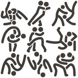Wrestling freestyle icon Stock Images