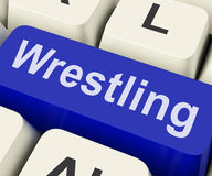 Wrestling Key Shows Wrestler Fighting Or Stock Photo