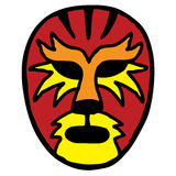 Wrestling mask. Big cat inspired mexican wrestling mask Stock Photography