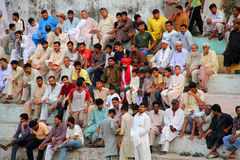Wrestling Match Spectators. SIALKOT, PAKISTAN - JUNE 17: Crowd Watching Wrestling Competition at Sialkot Memorial Wrestling Match held on June 17, 2011 in Royalty Free Stock Photos