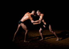 Wrestling models Royalty Free Stock Images