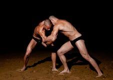 Wrestling models stock photography