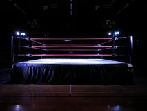 Wrestling ring light stock image