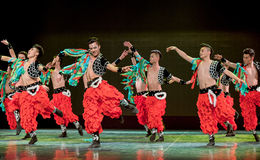 Wrestling song-The Mongolians-The national folk dance Royalty Free Stock Image