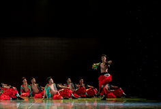 Wrestling song-The Mongolians-The national folk dance Royalty Free Stock Images