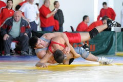 Wrestling team chamionship Royalty Free Stock Photos