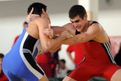 Wrestling team championship Stock Images