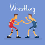 Wrestling Two Wrestler Opponent Sport Competition Stock Images