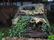 Wretched Car in open air and got decayed Royalty Free Stock Image