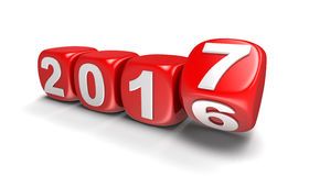 Würfelt mit 2017 Lizenzfreies Stockbild